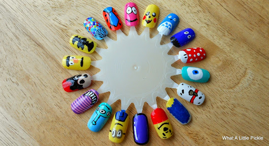 Cartoon Nail Designs.