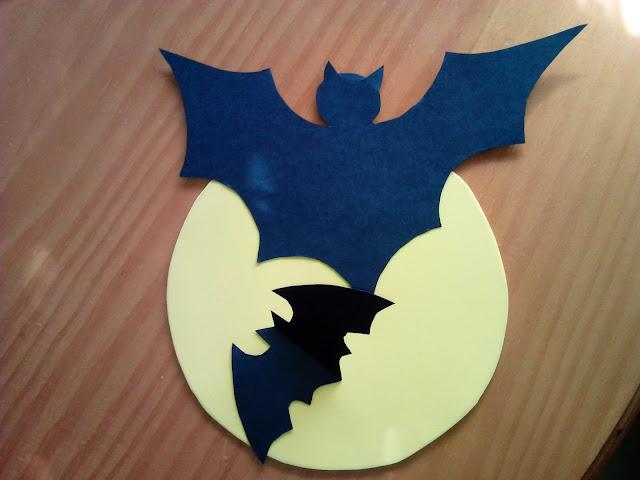decoração, bat, morcego