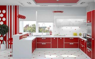 red kitchen accessories ideas