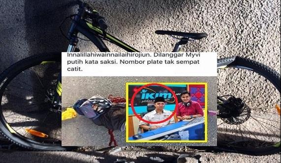 Sayu : Allahuakbar Ustaz Azman Maut Tragis Dilanggar Lari Ketika Berbasikal (5 Gambar)
