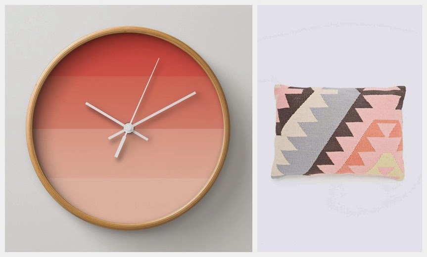 Ombre striped clock