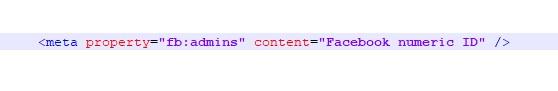 open graph admin  meta tag