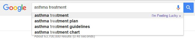 Google search for the term Asthma Treatment
