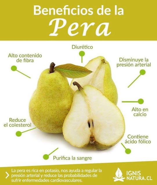 CONSUMO DE PERAS - REMEDIOS NATURALES