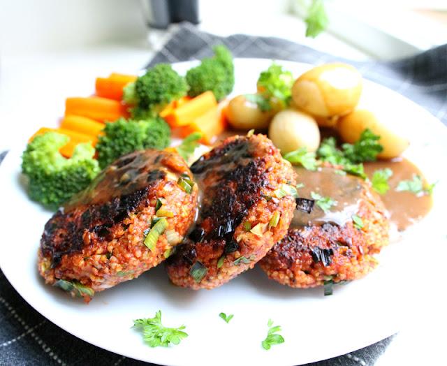 Oppskrift Hirsekarbonader Kjøttfri Karbonade Vegansk Burger Vegetarburger Glutenfri