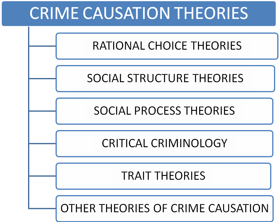 theories of crime causation essay In this paper we present an alternative conception of self-control and its role in crime causation to the one advanced by gottfredson and hirschi (1990) in their influential general theory of crime our conception is based on the theoretical framework outlined in the situational action theory of crime causation (eg wikström 2006a.