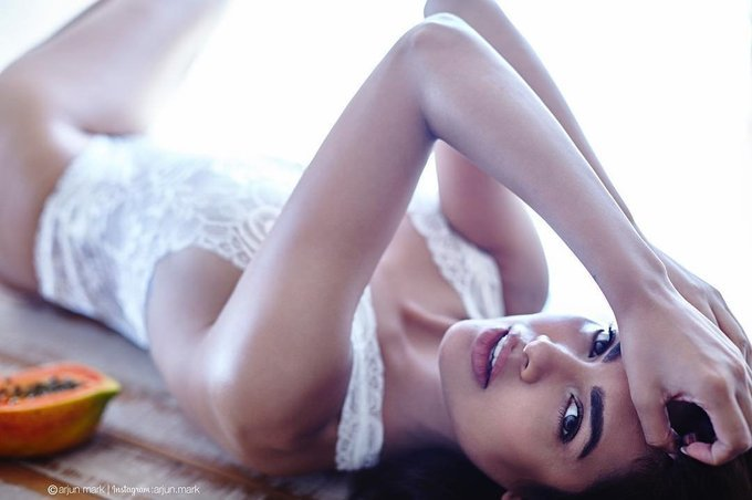 Esha Gupta Super Hot In White Lingerie Photo Shoot