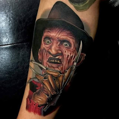 Tatuaje de Freddy Krueger por Aaron Springs