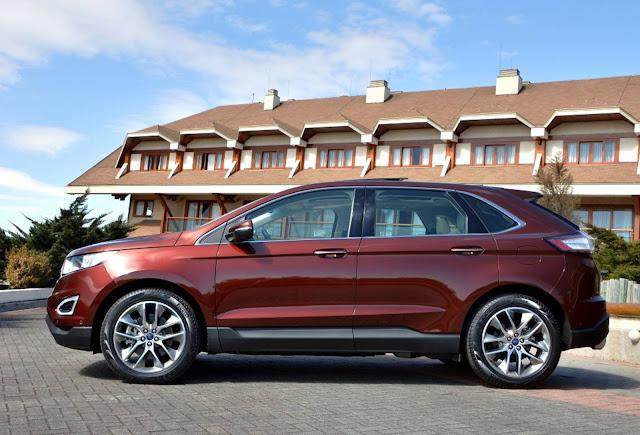 Novo Ford Edge 2017 - vermelho Vermont