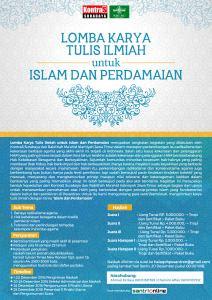 "Lomba Karya Tulis Ilmiah Tema ""Islam dan Perdamaian"" - Kontras Surabaya"