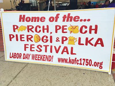 Main Sign - Perch Peach Pierogi Polka Festival