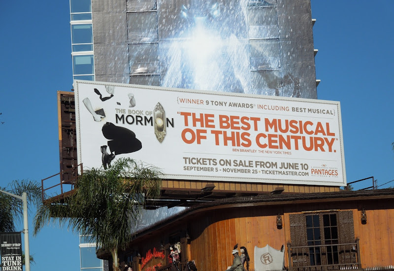 Book of Mormons touring musical billboard