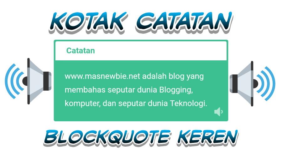 Kotak Catatan Blockquote Keren