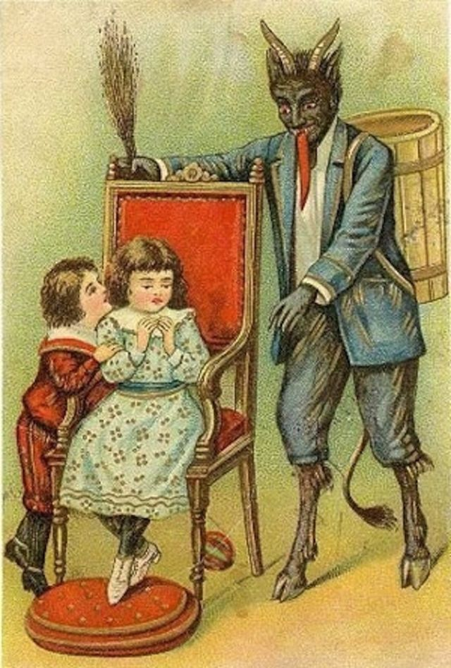 Creepy Krampus  Vintage Postcards Of The Devil Santa Claus