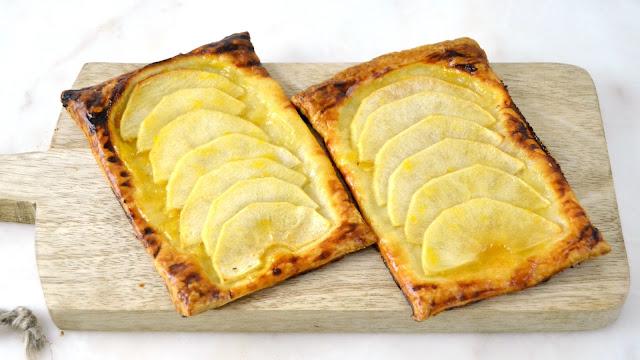 Tarta de manzana con hojaldre fácil receta