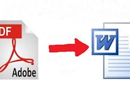 Cara Termudah Merubah File Pdf Ke Word Tanpa Software