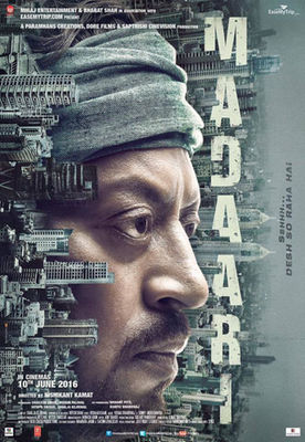 full cast and crew of bollywood movie Madaari 2016 wiki, Irrfan Khan, Jimmy Shergill, Tushar Dalvi story, release date, Actress name poster, trailer, Photos, Wallapper