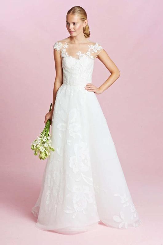 Brautkleider mit A Ausschnitt