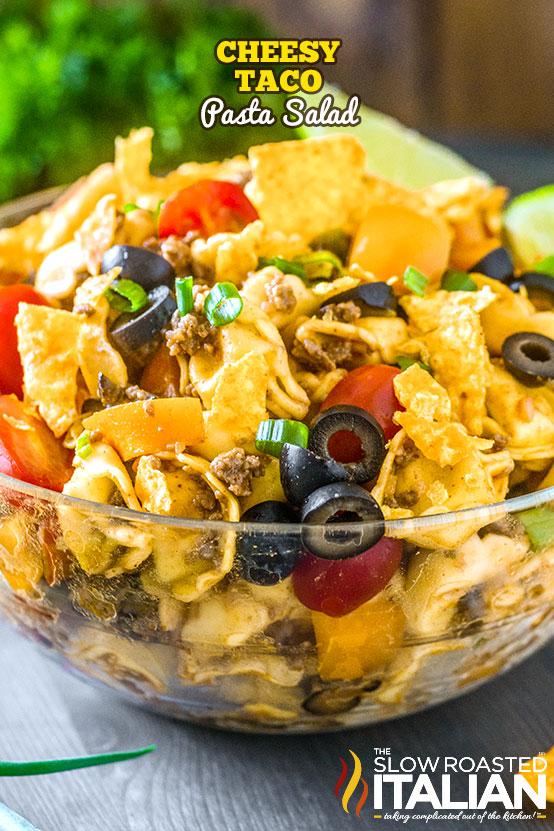 https://www.theslowroasteditalian.com/2018/07/cheesy-taco-pasta-salad.html