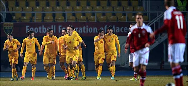 Macedonia beats Denmark in football friendly