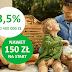 Konto Oszczędnościowe 3,5% do 400 tys. zł w Getin Bank (+ 50 zł na start i 100 zł w programie poleceń)