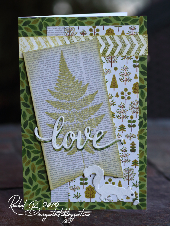 Scrapatout - Handmade card, Impression Obsession, Love, Nature, Squirrel, Trees, Masculine