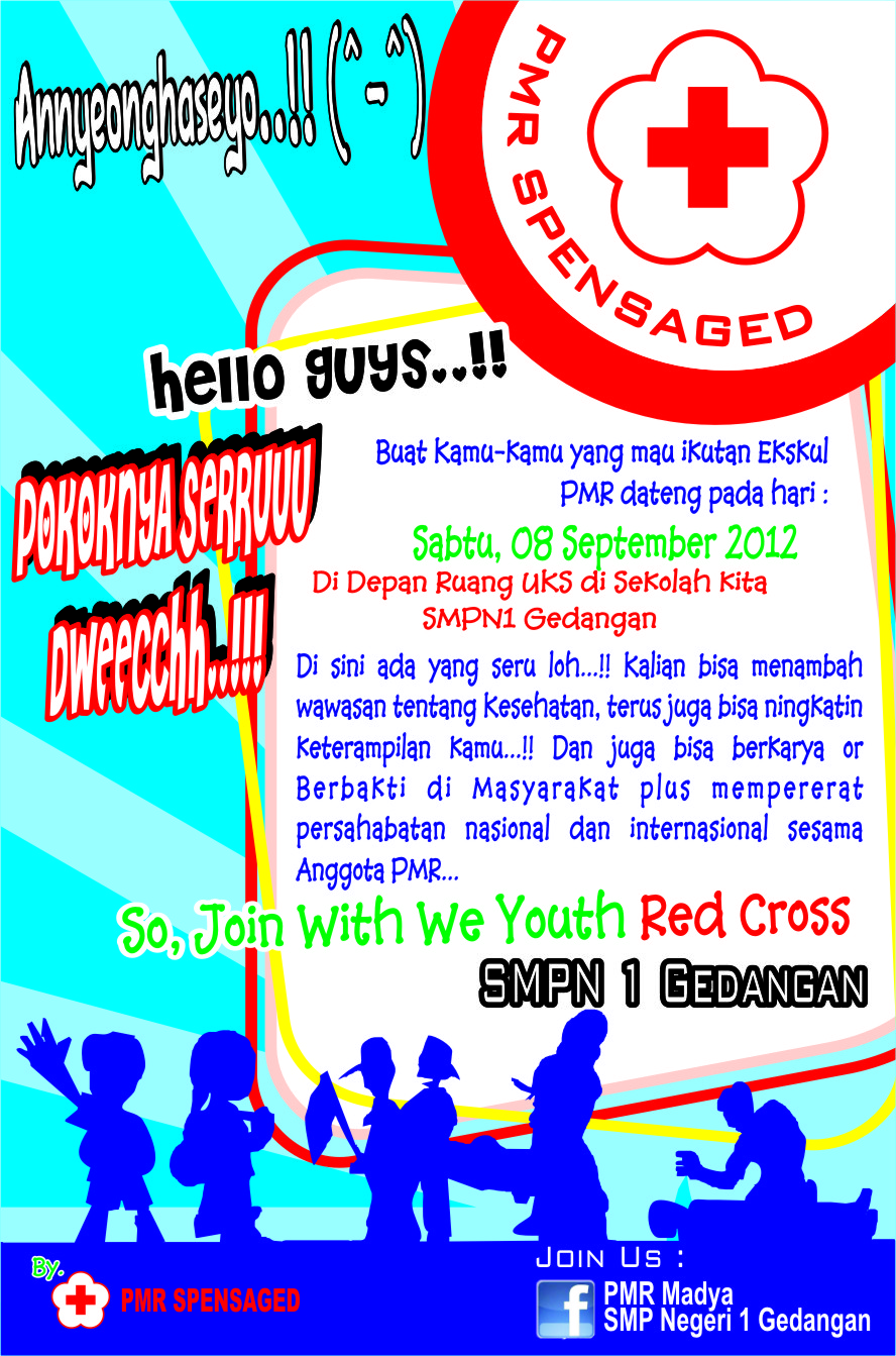 Youth Red Cross Poster Promosi Pmr Spensaged