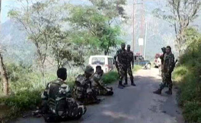 Security forces patrol near Tukvar forest darjeeling