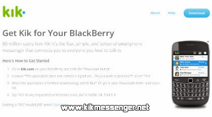 KiK Messenger para BlackBerry gratis