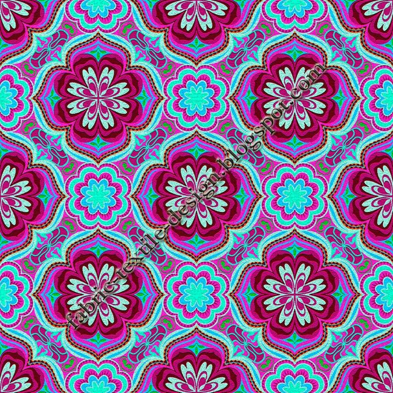 Digital Textile Design Retro Fabrics Quilting Patterns