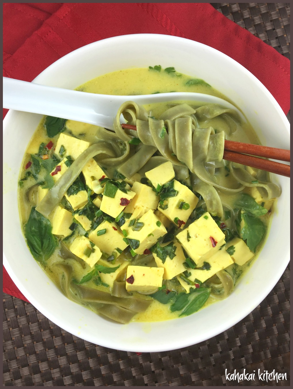 heidi s recipe used a thin spinach pasta noodle and