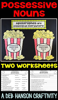 Possessive Nouns Craftivity- Students need lots of practice opportunities in order to internalize apostrophe rules! Why not make it fun with an engaging craftivity?