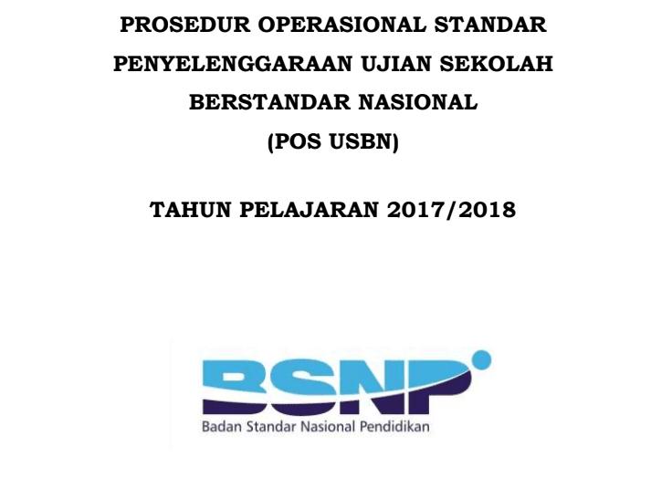 Download POS USBN SD 2018 PDF dan Kisi-Kisi