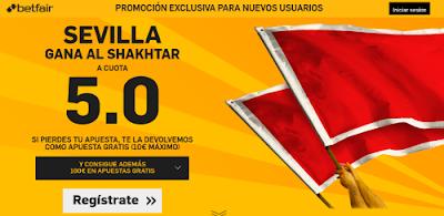 betfair Sevilla gana Shakhtar supercuota 5 Europa League 5 mayo