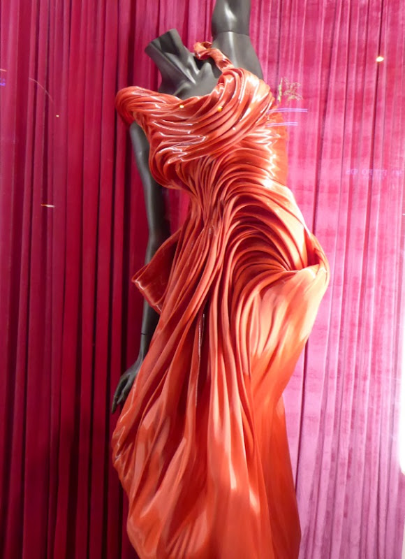 RuPauls Drag Race sculpted red gown