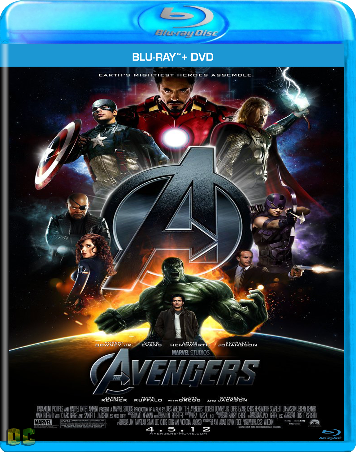 The Avengers: Latest Bluray & HD Covers: The Avengers (2012) Hollywood