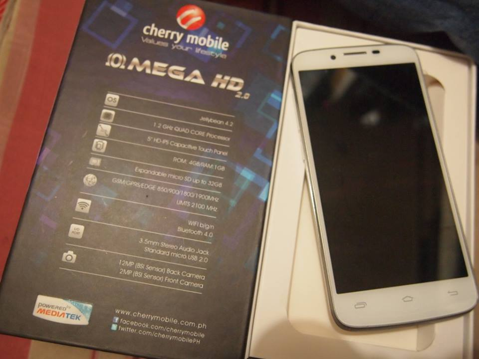 cae2dc1293d Cherry Mobile Omega HD 2.0 breaks out: 5-inch 294 ppi display, 1.2. Home AndroidSmartphones