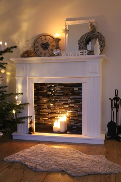 Kamin Mit Kerzen Dekorieren Schönsten Einrichtungsideen