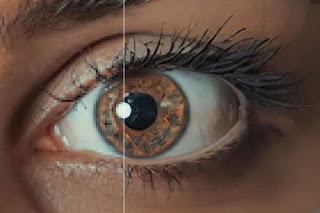 Enhanced image of eye