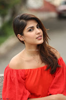 Rhea Chakraborty in Red Crop Top and Denim Shorts Spicy Pics ~  Exclusive 346.JPG