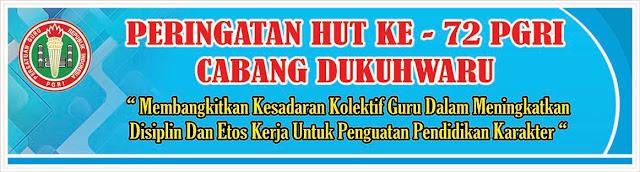 Contoh desain banner atau Spanduk Hut PGRI Ke 72