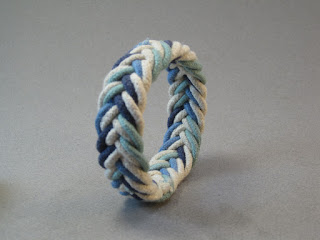 rope bracelet herringbone weave hand dyed cotton