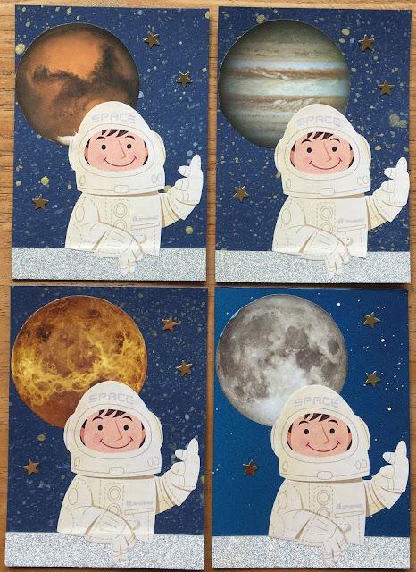 Astronaut with Mars, Jupiter, Venus and Moon ATC