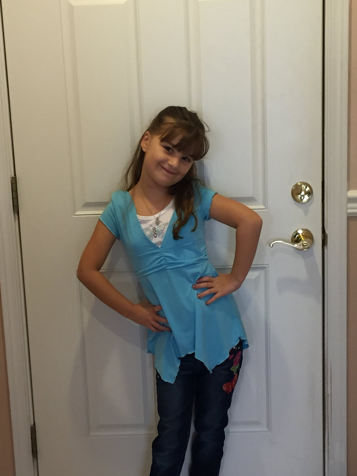 Carla's 1st day of 2nd Grade, 2015