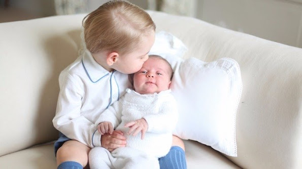 The Duchess of Cambridge took this picture of George and his newborn sister.
