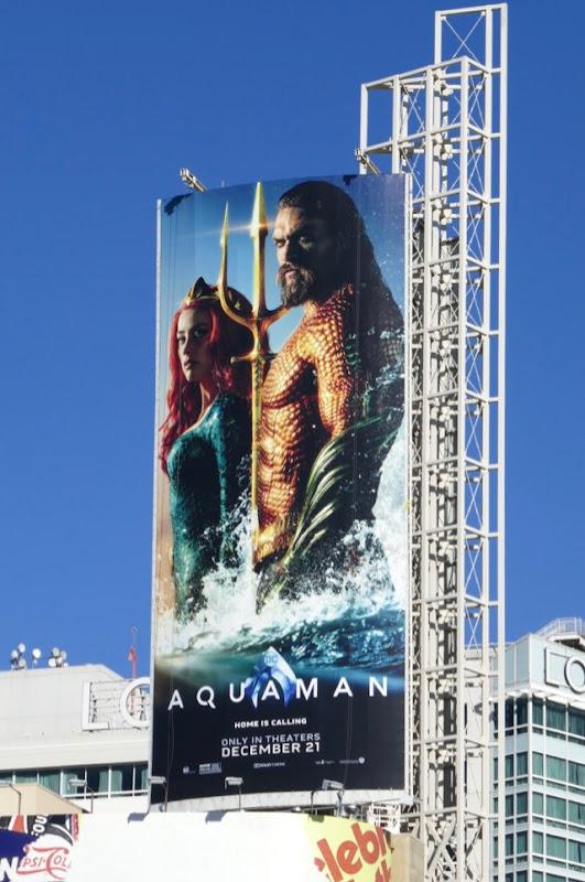 Aquaman movie billboard