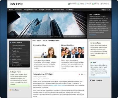 Free JSN Epic Version 4.3.0 Joomla 1.7/2.5 & 1.5 Template