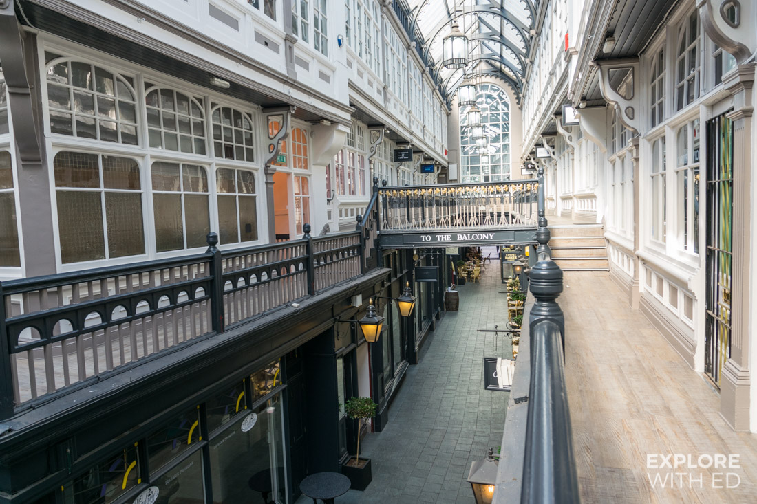 The Castle Arcade in Cardiff city centre