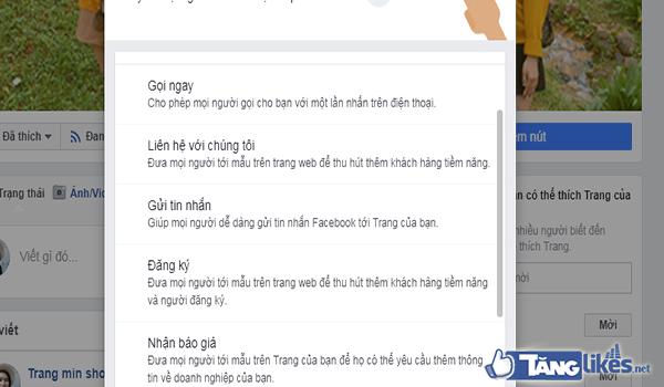 tao 2 nut hanh dong tren fanpage 4