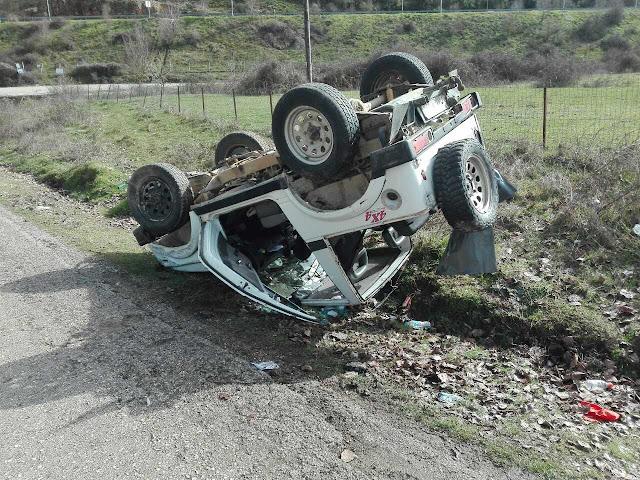 Νεκρός 63χρονος από ανατροπή αυτοκινήτου (+ΦΩΤΟ)
